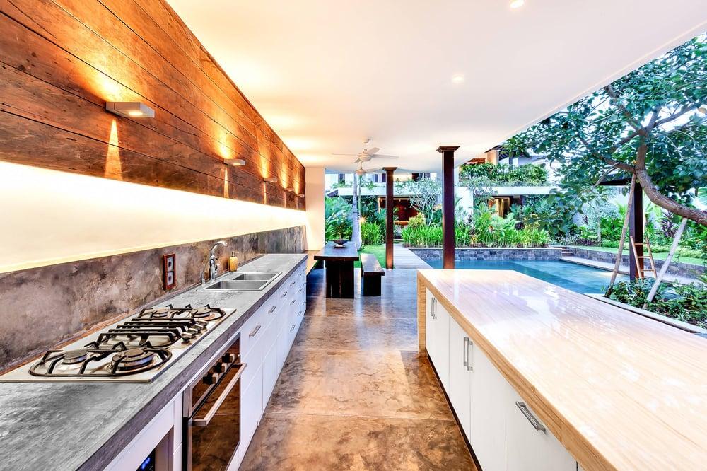 idees carrelage cuisine exterieure elegante
